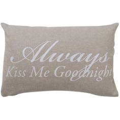 Add A Sweet Touch To Your Couch Chair Or Bed With The Good Night Oblong Throw Pillow From Vintage House By Park B This Is Printed