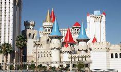 Los hoteles en Las Vegas son espectaculares, como por ejemplo el Hotel Excalibur