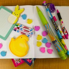 SnapWidget | You're sure to score SWEET grades next semester with @PeepsBrand school supplies! Show us how you express your #PEEPSONALITY, at work or at play! #BackToSchool #PEEPS ✏️