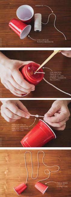 Telefone de Copo | Telephone Cups