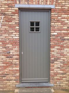 Replacing an old or dated looking front door is actually one of the most popular curb appeal ideas, making the choice of your a front door for a new home hugely . Best Front Doors, Back Doors, Exterior Trim, Exterior Doors, Grey Window Frames, 1930s House Renovation, Vinyl Siding Colors, Brickwork, Cottage