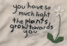 You have so much light The plants grow towards you