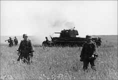 The battle of Kursk.1943. Destroyed Russian tank.
