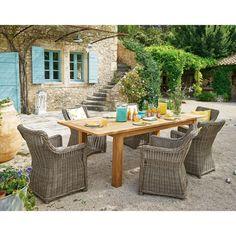 Port Royal Salon de jardin en aluminium et duranite (4 à 6 places ...