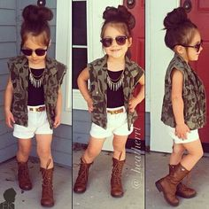 This little girl is way too cute