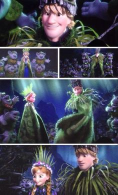 Frozen: Anna and Kristoff - and, top pic, there's that look :) Frozen And Tangled, Frozen Heart, Anna Frozen, Disney Frozen, Frozen Stuff, Frozen 2013, Disney Couples, Disney Girls, Disney Love