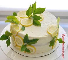 50 Most Beautiful looking Lemon Cake Design that you can make or get it made on the coming birthday. Lemon Birthday Cakes, Pretty Birthday Cakes, Pretty Cakes, Just Desserts, Delicious Desserts, Bolo Cake, Just Cakes, Cupcake Cakes, Food Cakes