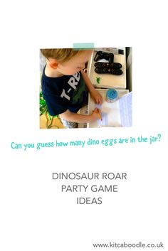 How Many Dino Eggs In A Jar | Kids' Party Games | Dinosaur Party Inspiration | Kit & Caboodle Parties