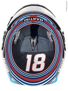 Lance Stroll - Williams - 2017 F1 2017, Helmet Design, Juventus Logo, Helmets, Team Logo, Hard Hats, Helmet