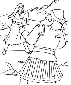 King David and Nathan Coloring page Childrens Church Ideas