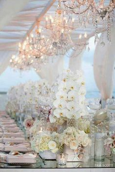 24 Wonderful Wedding Tent Ideas For A White Wedding ❤ See more: http://www.weddingforward.com/wedding-tent/ #weddings