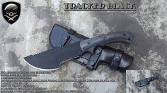 FASB - Facas Militares Especiais * TRACKER BLACK - faca do filme Caçado (the hunted)