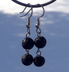 Volcanic Lava Earrings Dangle Earrings by PeerlessTreasures