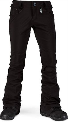 Volcom Battle Stretch Pant - Women's Snowboarding Pants - Slim Fit - Stretchy - 2014 - Christy Sports
