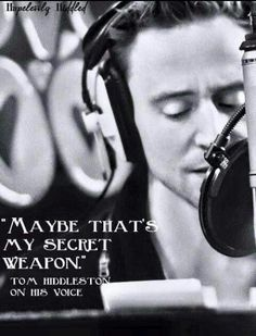 Tom Hiddleston ⭐️ Its a weapon of mass seduction...;)