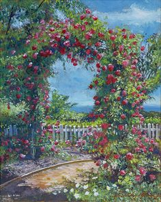 Rose Arbor, Impressionist Paintings, All Wall, The Hamptons, Are You Happy, Instagram Images, Gardens, Ocean