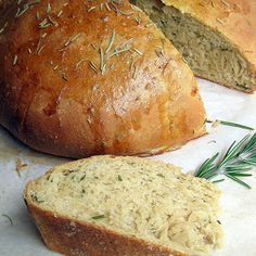 Rosemary Olive Oil Bread. Like Macaroni Grill. Simple easy recipe for 1 round loaf… no bread maker needed!