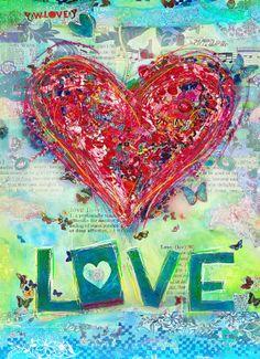 Valentijnskaart - W-love Wilma Veen