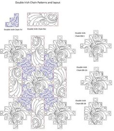 Shop | Category: Double or Triple Irish Chain Patterns | Product: Daisy Chain FB Pattern set