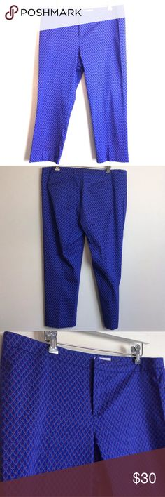 fc9d2c32adc1 NWOT Pants Blue Cropped Capri Stretch Trouser 10