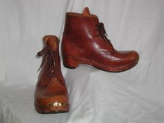 Trefor and Rhiannon Owen, Clogmakers http://www.treforowenclogmaker.co.uk