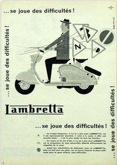 Lambretta advert 1960s mod culture style transport chic italy innocent mini vespa scooter
