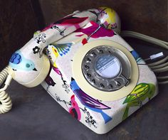 Iced 'June Song' Birds Vintage Phone £200.00