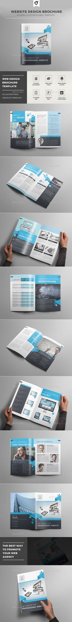 Website Design Brochure Template #design #broschüre Download: http://graphicriver.net/item/website-design-brochure-template/12502679?ref=ksioks