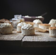 Angel Food Cupcakes with Coconut-Lemongrass Whipped Cream by carey nershi, via Flickr