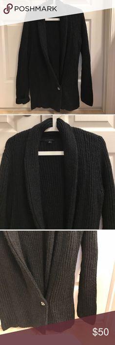 Size M black rhinestone Ann Taylor long cardigan Size M black rhinestone Ann Taylor long cardigan: wool and acrylic Ann Taylor Sweaters Cardigans