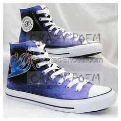 Fairy Tail Anime Shoes with Galaxy Background Hand Painted Shoes – Galaxy Art Image Mix, Galaxy Background, Hand Painted Shoes, Fairy Tail Anime, Galaxy Art, Converse Chuck Taylor, High Top Sneakers, Fashion, Moda