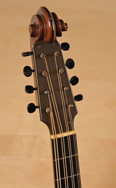 Lyon and Healy Style A MandoCello headstock, 1922.