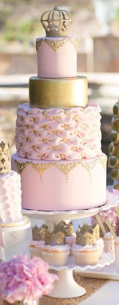 Pink and Gold Vintage Glam Princess Birthday Party