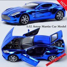 1:32 Jouet De Voiture Aston Martin Métal Alliage Moulé Sous Pression Modèle De Voiture Miniature Échelle Modèle Son et Lumière Électrique Voiture Jouets Pour enfants