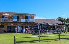 Sawtell Life Saving Club and Café on the beach