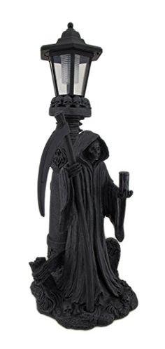 Hades Glow Grim Reaper Statue and Solar LED Lantern