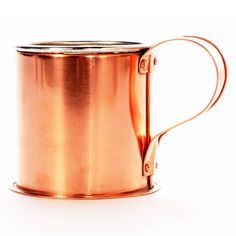 Copper Cup made by Jacob Bromwell, American made quality since 1819. Visit the site for numerous American made kitchen and camping items. Built Right!
