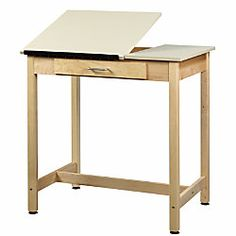 Shain Drawing Table, 1 Drawer,
