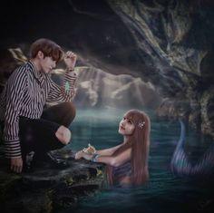 Kpop Couples, Cute Anime Couples, Bts Girlfriends, Bts Kiss, Pony Makeup, 17 Kpop, Cute Couple Art, Blackpink Memes, Couple Illustration