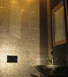 Golden Metalic złota krystaliczna mozaika