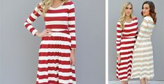 I think I found my new holiday party dress!! Long sleeve, calf length and pockets!! Need I say more?! Only $24.99!