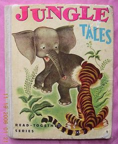 """1947 Vintage Children's Book """"JUNGLE TALES"""" from molotov on Ruby Lane"""
