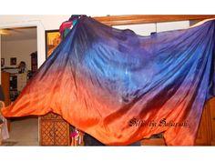 "Sahariah's Silk Belly Dance Veil Rectangle original ""Killer Silk"" 3 Yard Rectangle Veil Tribal Silks by Sahariah by SilksbySahariah on Etsy"