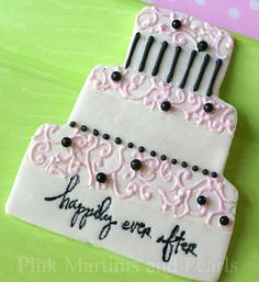 Pink Martinis and Pearls: Decorated Wedding Cookies - Part 2