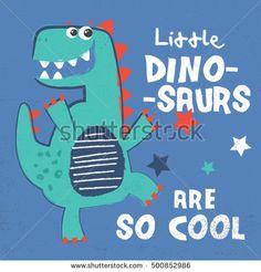 dinosaur print design as a vector for baby fashion