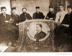 A carpet with the schools 24-year-old teacher Howard Baskerville's picture woven on it in recognition of his courage and sacrifice in the Iranian constitutional revolution.