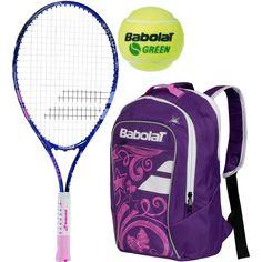 Babolat B Fly Purple Backpack Green Balls Bundle 59 95 Kids Tennis Purple Backpack Junior Backpacks