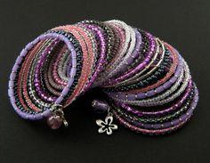 bransoletki - szkło-memory - flowers Bangles, Bracelets, Memories, Flowers, Wire, Jewelry, Fashion, Memoirs, Moda