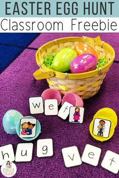 Work on CVC and CCVC word building skills with this adorable Easter or Spring-themed game! Sign up for the Pencils to Pigtails newsletter through this link to grab your free game immediately!
