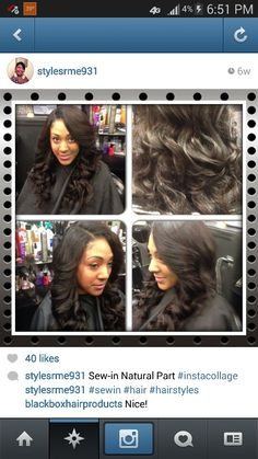 Sew in natural part